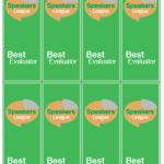 Cardstock Best Evaluator Ribbons