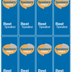 Cardstock Best Speaker Ribbons