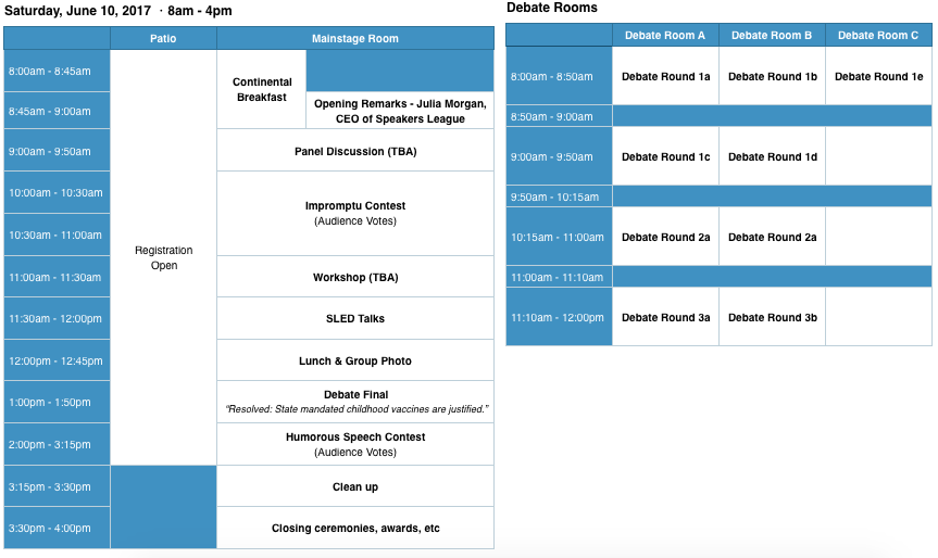 SLAM 2017 Schedule 5-14