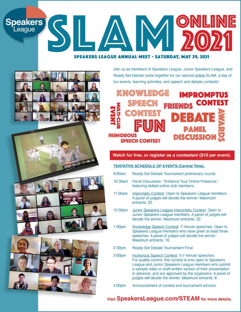 STEAM SLAM Online flyer